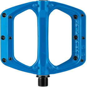 Spank Spoon DC Flat Pedal, Bright Blue